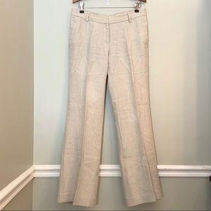 Loft natural linen trousers